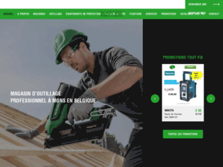 Détails : Magasin d'outillage professionnel à Mons