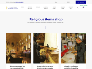 Trouvez des objets religieux sur cette boutique en ligne