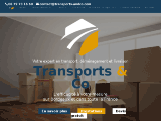 Transports & Co : entreprise de transport à Bordeaux