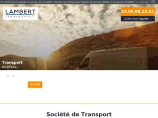 Transporteur à Lille - Transports Lambert
