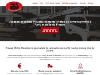Trévise Monte-Meubles, votre spécialiste en location de monte meuble à Paris
