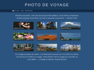 Photos de voyage