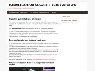Tubeuse électrique à cigarette