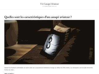 Un Canapé Aviateur, portail web pour s'informer sur le canapé aviateur