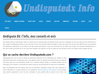 Undisputedx.com pour l'information