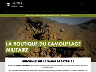 Univers Camouflage la boutique en ligne de surplus militaire camouflage