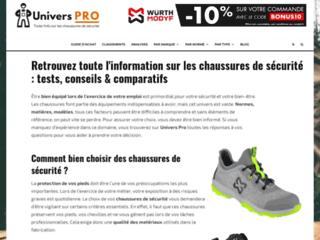 Chaussures de sécurité sur Univers Pro