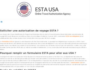 Usa Voyageur, demande d'autorisation ESTA