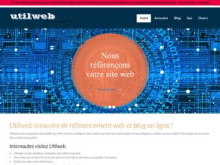 Détails : Utilweb, annuaire de référencement et blog en ligne