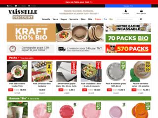 Vaisselle Jetable Discount - Vente en ligne de vaisselle jetable plastique, papier, carton.