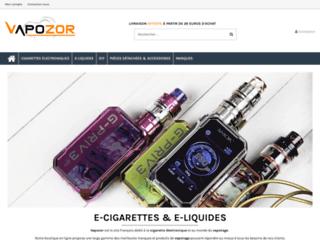 Vapozor, une boutique de cigarettes électroniques de marques