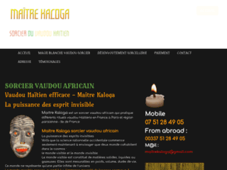 Détails : vaudou sorcier africain