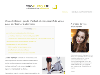 Velo-elliptique.fr : guide et comparatif