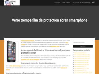Détails : protection d'écran avec des films en verre trempé