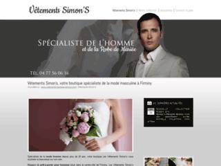 Détails : Vêtements Simon's, boutique de vêtements pour hommes à Firminy