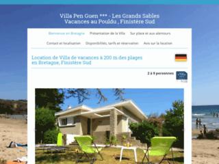 Location de la villa de vacances Pen Guen en Bretagne, au Pouldu, Finistère Sud