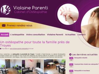 Détails : Cabinet d'Ostéopathie Violaine Parenti, un bon ostéo à St Germain, dans l'Aube