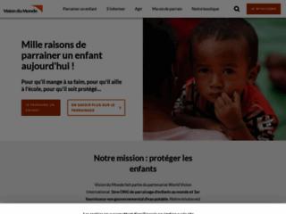 Détails : Vision du monde - campagnes et actions de parrainage enfant pauvre