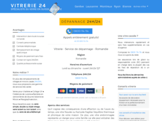 Vitrerie 24 – votre vitrier pour toute réparation en Suisse