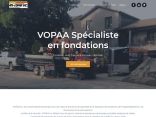 Détails : Vopaa Inc : spécialiste des fondations à Montréal