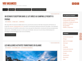Communiqués de presse thématique Voyage-tourisme