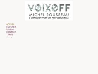 Voix off en ligne Michel Rousseau