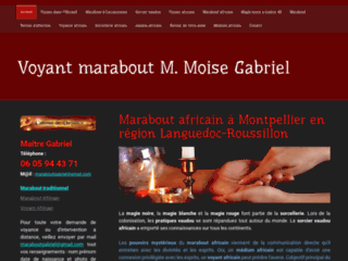 Détails : Le grand maître Moise Gabriel