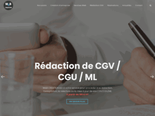 Détails : Création de site internet et aide juridique