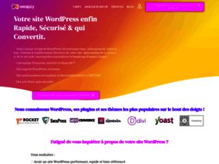 WEAPZY, services de maintenance de sites internet WordPress