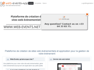 Web-events : Application pour sites web événementiels