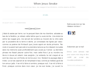 When Jesus Smoke