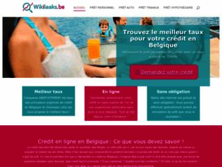 Crédit en Belgique avec Wikileaks