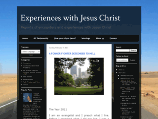 Website's thumnail : Experiences with Jesus Christ