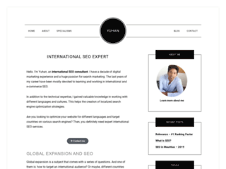 Consultant SEO international - Yuhan
