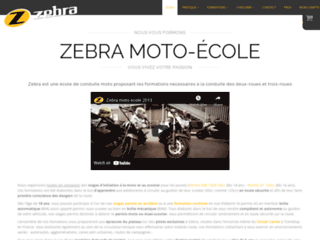 Zebra, permis moto à Boulevard Beaumarchais