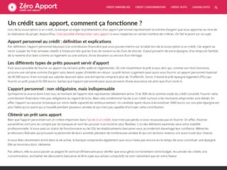 Zéro-apport.fr