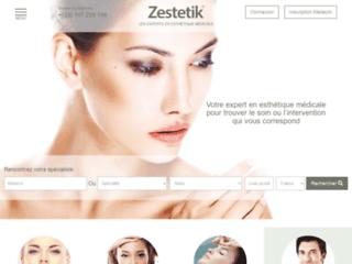 Détails : Zestetik, rendez-vous médicaux en ligne