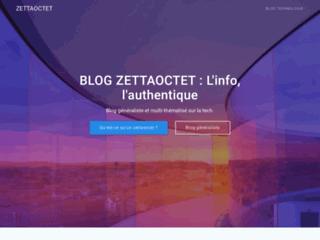 Zettaoctet, blog généraliste et technologique