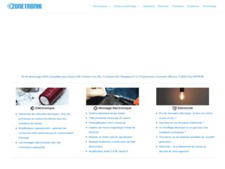 Zonetronik : schéma, montage, cours et composants électroniques
