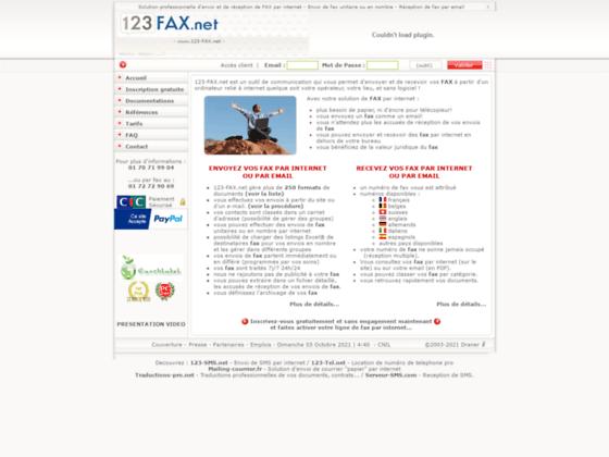 123-Fax Envoi reception de fax par internet par web en ligne ou email