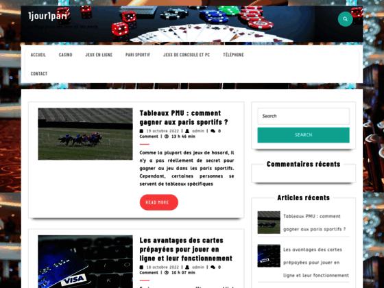 1Jour1Pari.com, site de paris sportif gratuit