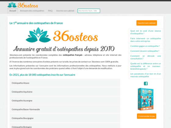 annuaire des osteopathes en France