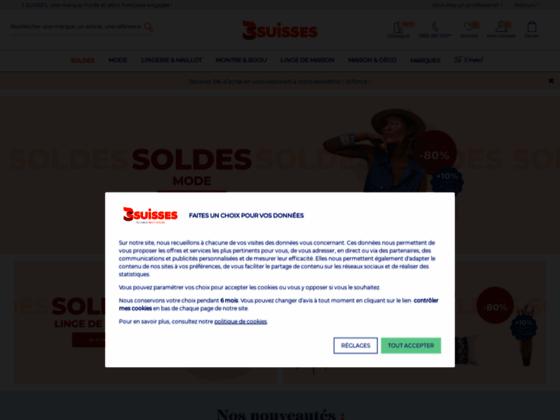 3 Suisses.fr: linge de maison, mode et chaussures