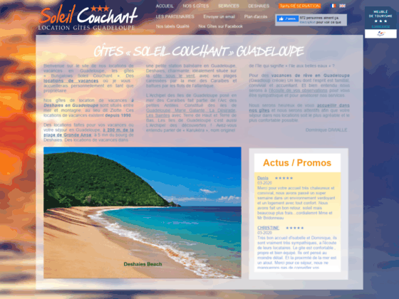 Location Gîte *** Deshaies 200m plage Clim Wifi Ca