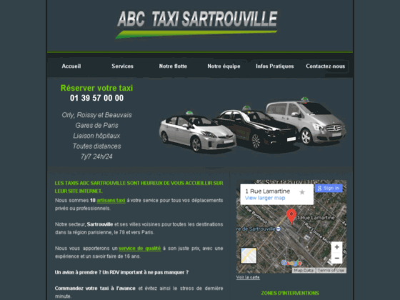 Reservation taxi bezons