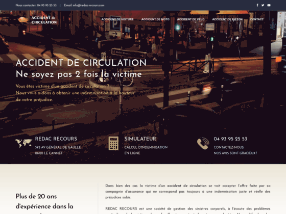 Accident de circulation : Indemnisation de la victime d'un accident