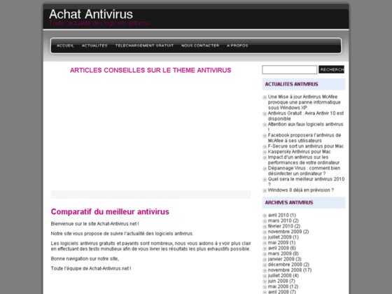 Achat Antivirus