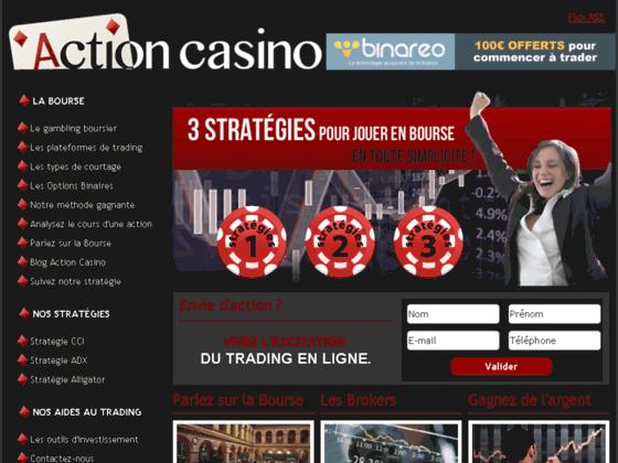 action casino: parier sur la bourse