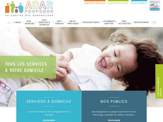 ADAR Provence Association de services d'aide à domicile en Vaucluse et Bouches du Rhône