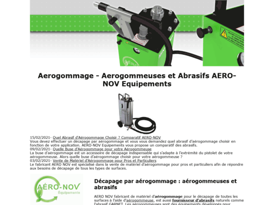 A�rogommage - D�capage A�rogommeuses & Abrasifs